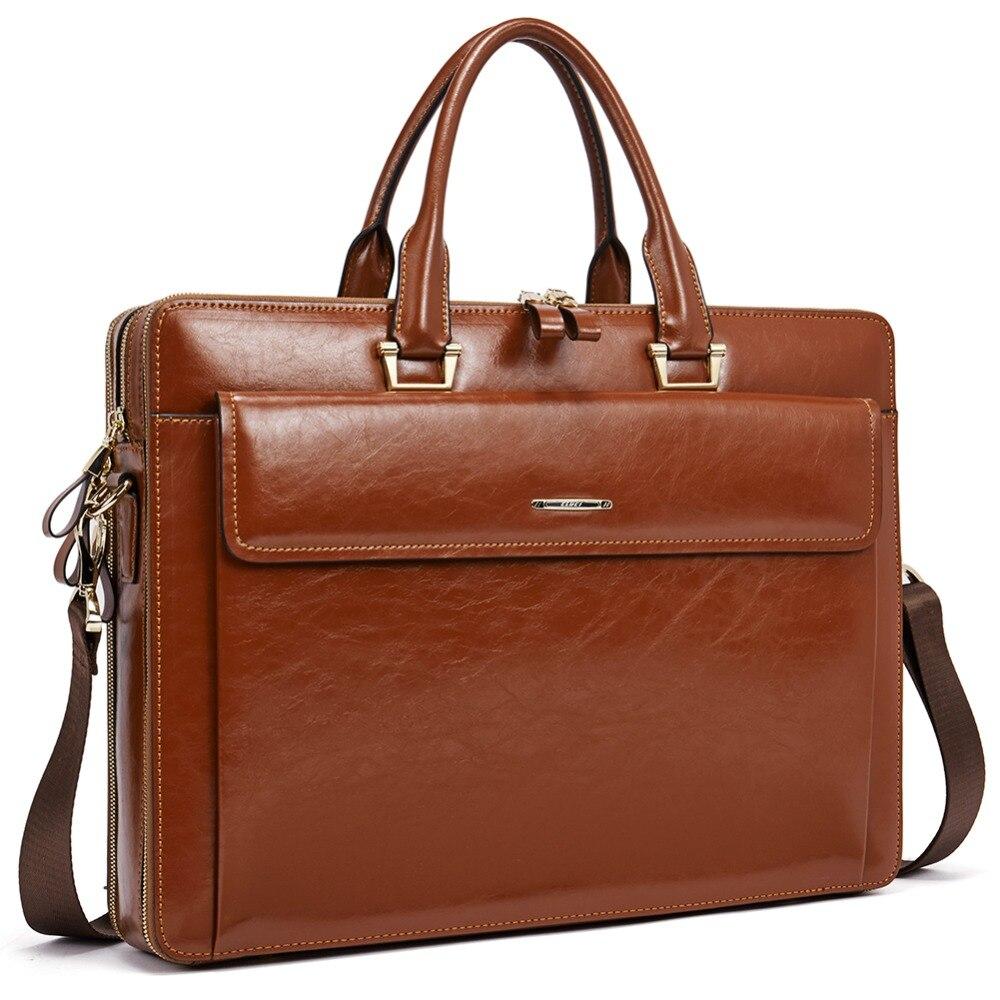 Men Business Briefcase Bag Genuine Leather 15.7inch Laptop Male Briefcase Shoulder Bag Crossbody Tote HandbagMen Business Briefcase Bag Genuine Leather 15.7inch Laptop Male Briefcase Shoulder Bag Crossbody Tote Handbag
