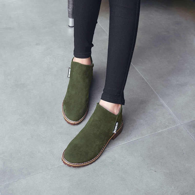 Botas de mujer zapatos de mujer de moda de tacón alto botas de encaje hasta el tobillo señoras plataforma Chelsea zapatos de cuero Artificial bota femenina