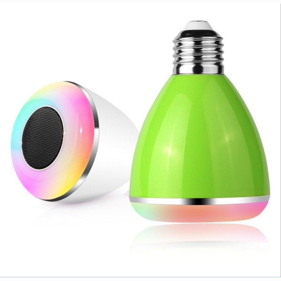 6W LED Bulbs Wireless Bluetooth Speaker Audio Speaker, E27 RGBW Bluetooth 4.0 Music Playing & Lighting Smartphone APP Control icoco wireless bluetooth remote control mini smart audio speaker audio rgb audio 24 led e27 colorful playing