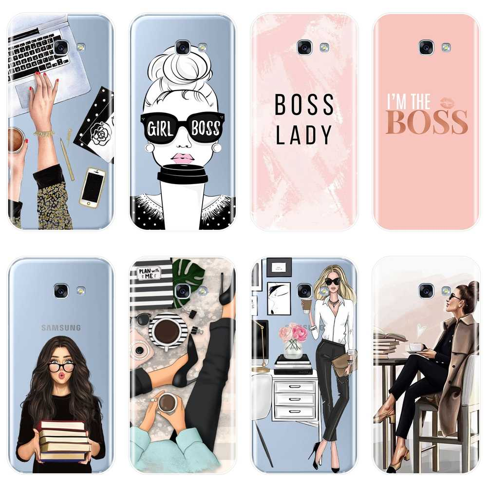 Case For Samsung Galaxy A6 A7 A8 2018 A3 A5 2016 2017 Soft Silicone Girl Boss Back Cover For Samsung A6 A8 Plus 2018 Phone Case