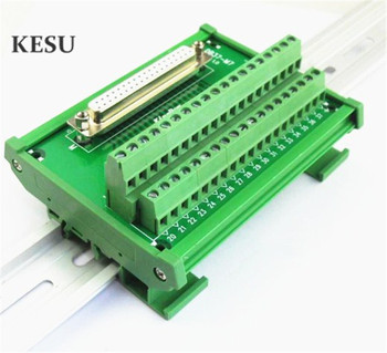 DB37 DR37 female 37pin port to Terminal block adapter converter PCB Breakout board Din Rail Mounting with Shell