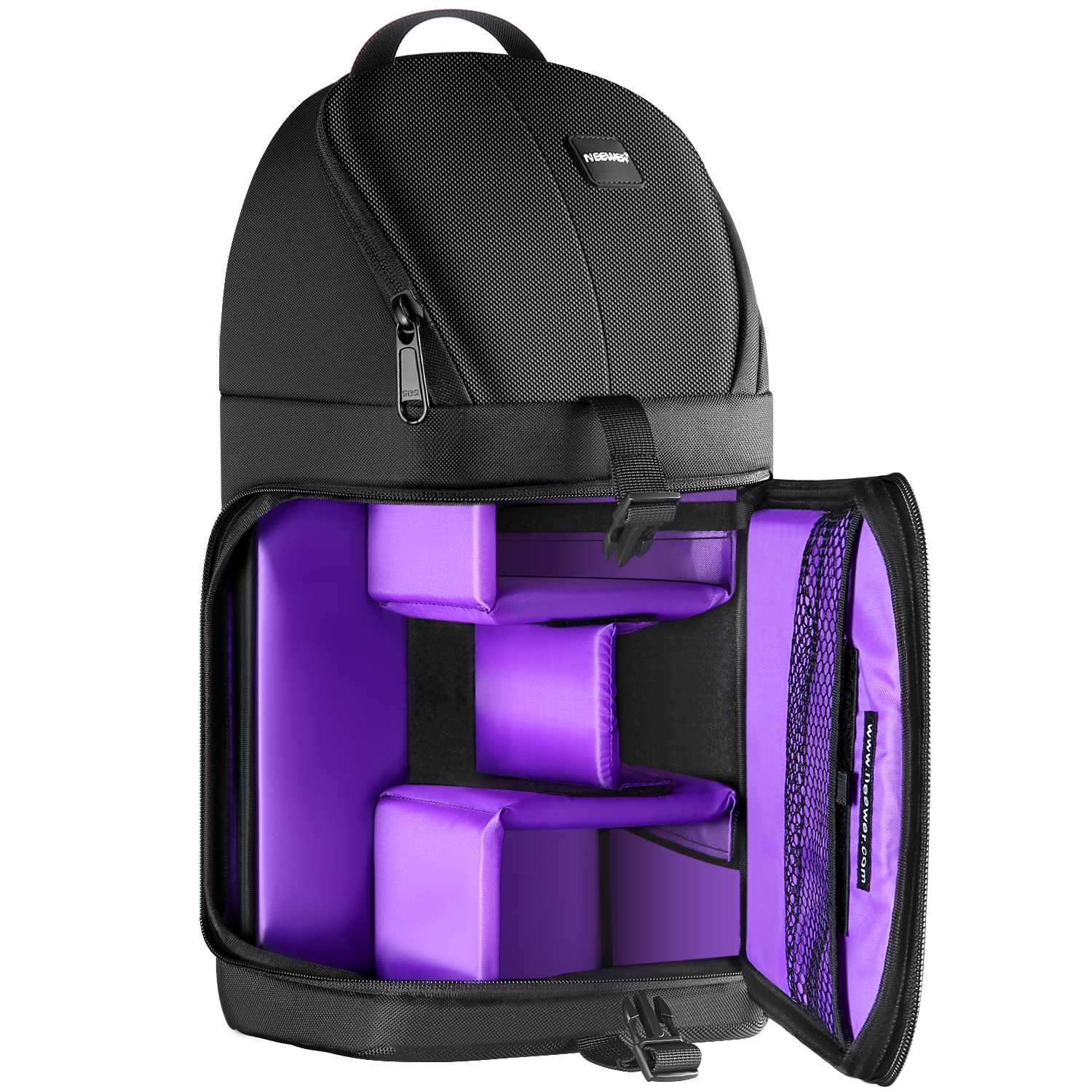 Neewer Case Backpack Storage-Bag Sling-Camera Tear-Proof Professional And Black for Carrying
