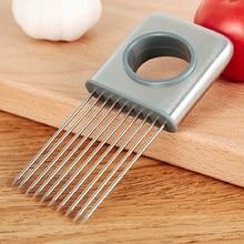 1 шт. кухонный держатель и резчик лука из нержавеющей стали томатные приспособления для резки полезные овощные инструменты
