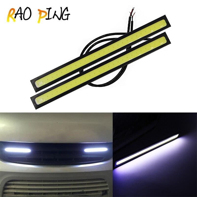 Raoping 2PCS Car LED Lights Daytime Running Driving Light 12V For DRL Fog Light Driving Lamp Waterproof 17cm COB DRL 4 Colors