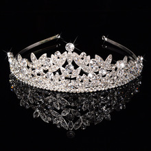 Fashion Women's Headwears Gorgeous Diamond Crown Bandanas Wedding Party Hair Accessories Bandage Headbands for Pretty Women