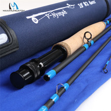 Maximumcatch 10ft/11ft 2/3/4wt Nymph Fly Fishing Rod IM10 Graphite Carbon Fiber Fast Action 4pcs Fly Rod