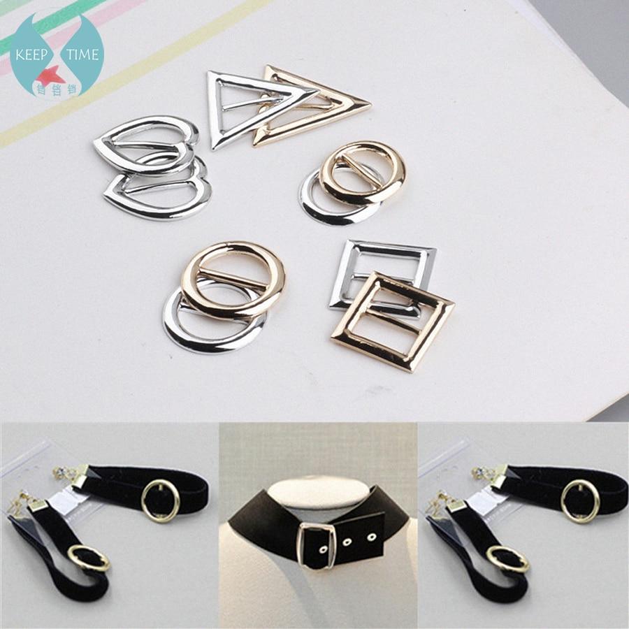 The latest Korean explosion metal circle collar round earrings pendant accessories decorative buckle belt buckle