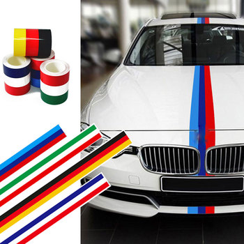 3 Color Strip Vinyl Car Sticker For Audi A4 For BMW M-Power E46 E39 E60 E90 For VW Golf 4 5 6 7 For Seat Leon image