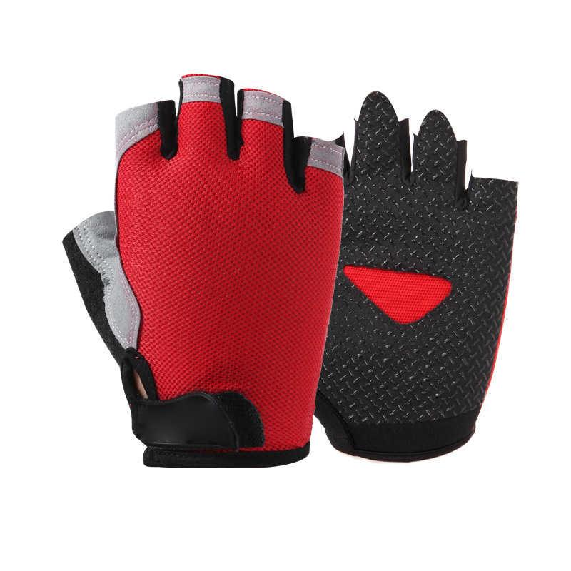 Printemps demi doigt Sports de plein air équitation hommes femmes gants de Fitness antidérapant sans doigts respirant protection solaire gants