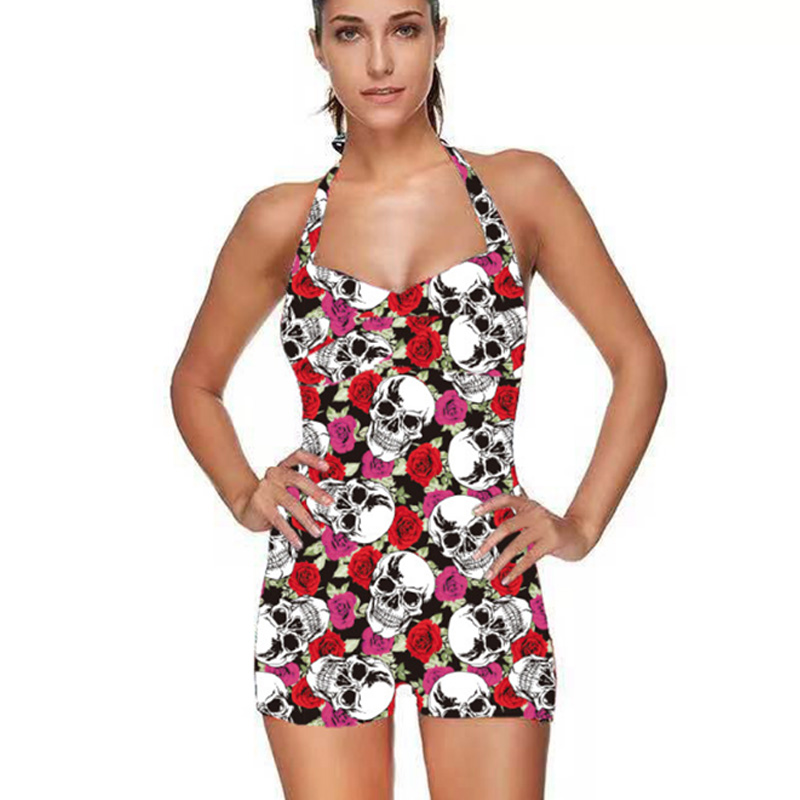 Swimwear Women's Swimming Suit Conservative Printed One Piece Big  Size 3XL Beach Swimsuit 2019 Swimwear New Monokini Bodysuit 3