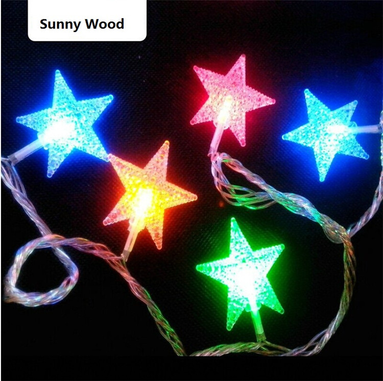 aliexpresscom buy 220v 33ft 10m led holiday lights with 100led twinkling stars christmas lights water proof sparking led string cl 002 from reliable