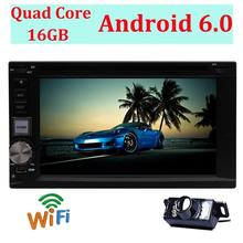 Camera Included! Android 6.0 2 DIN HeadUnit Support WIFI OBD USB SD SWC Mirror link Radio Stereo Multimedia Station Navigation