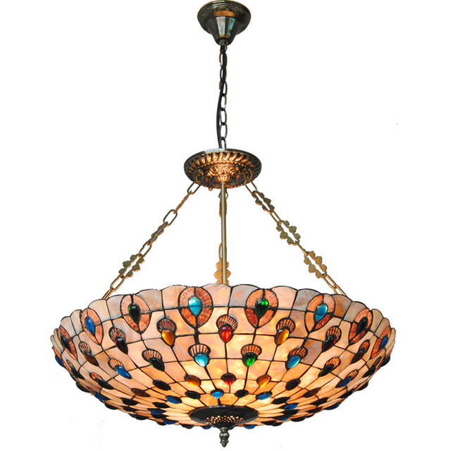 Suspension Tiffany european creative color beads suspension wire pendant lamp tiffany