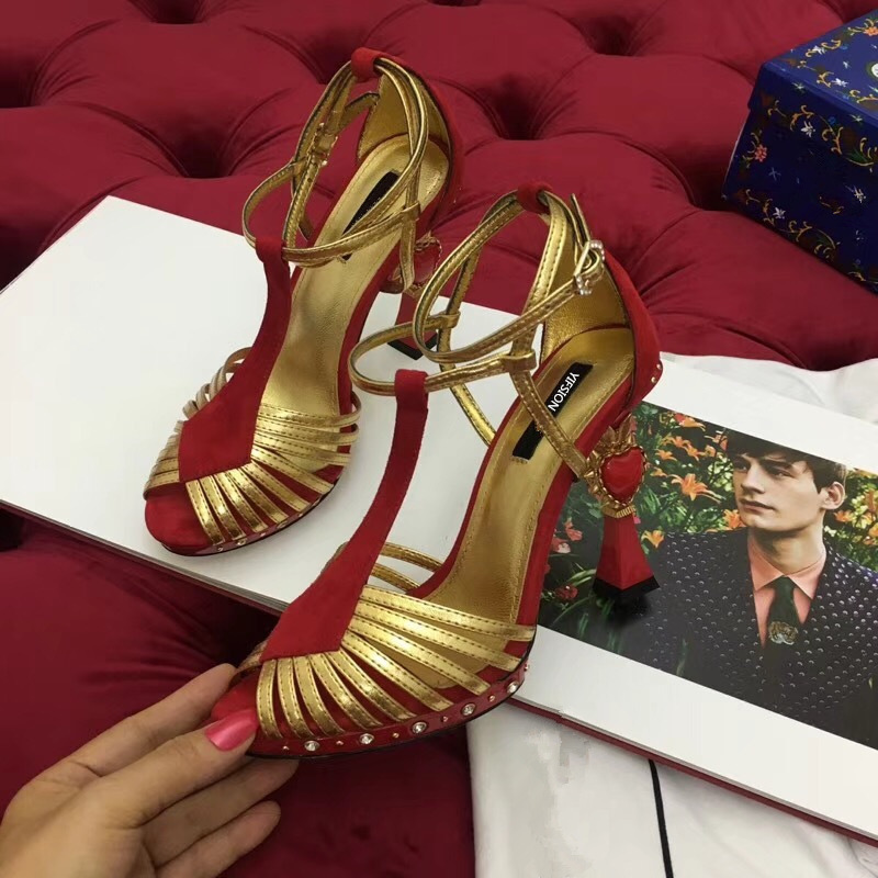 YIFSION 2018 New Fashion Genuine Leather Women Summer Sandals Sexy Open Toe Buckle Strap Thin High Heel Sandals Shoes Woman