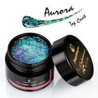 Fengshangmei 5 ml Aurora Gel pour ongles couche de finition 12 couleurs Gel UV clair vernis à ongles Design artistique vernis Gel hybride