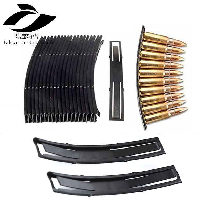 20pcs Hunting Caza SKS Loader Steel Stripper Clips 10 Round 7.62X39 Ammo Loader Reload Stripper Clips