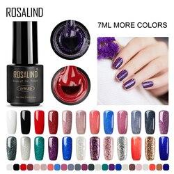 ROSALIND Híbrido Conjunto de Unhas de gel Para Manicure Semi Permanente LED UV gel soak off MIX colorido verniz gel vernizes