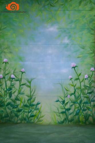 10x20ft100% Coton peint à la main TOILE DE FOND DE MOUSSELINE Printemps fleur FOND SCÉNIQUE, photographie de mariage milieux pour photo studio