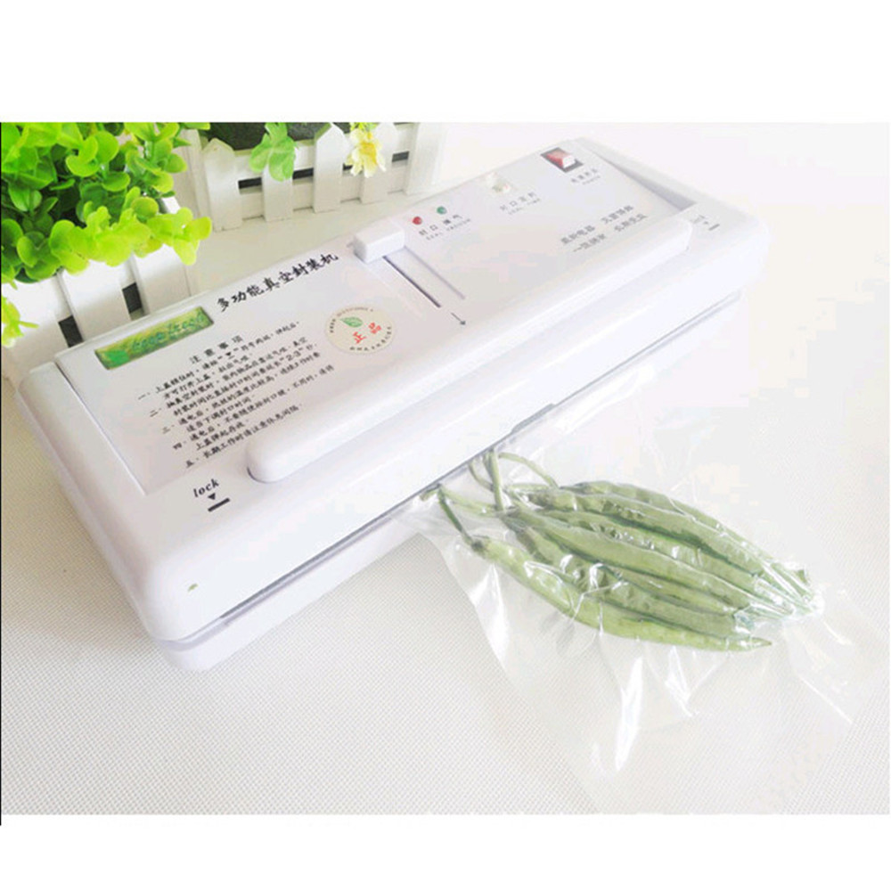 New 220V Household Food Vacuum Sealer Machine Vacuum Packing Machine Film Container Food Sealer shineye 220v household food vacuum sealer machine vacuum packing machine film container food sealer saver include 10pcs bags