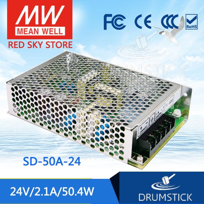 цена на Genuine MEAN WELL SD-50A-24 24V 2.1A meanwell SD-50 24V 50.4W Single Output DC-DC Converter