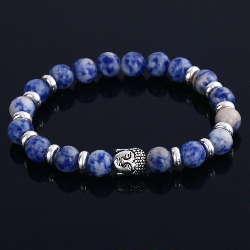 nouveau mode pierre naturelle perle bouddha bracelets pour femmes et hommes argent bouddha. Black Bedroom Furniture Sets. Home Design Ideas