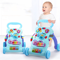 2018 new baby stroller walker toy anti rollover learning standing walking baby trolley multi function with music