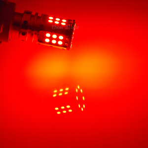 Image 5 - 2Pcs No Resistor Need 1157 BAZ15D 7225 P21/4W Canbus LED Bulbs 3030 SMD RED Car Backup Brake Stop Parking Light Auto Tail Lamp