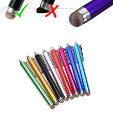 Univers Metal malla Micro fibra Stylus Tip pantalla táctil Mini pluma para iPhone/ipad/Samsung/teléfono inteligente /tableta PC ordenador(China)