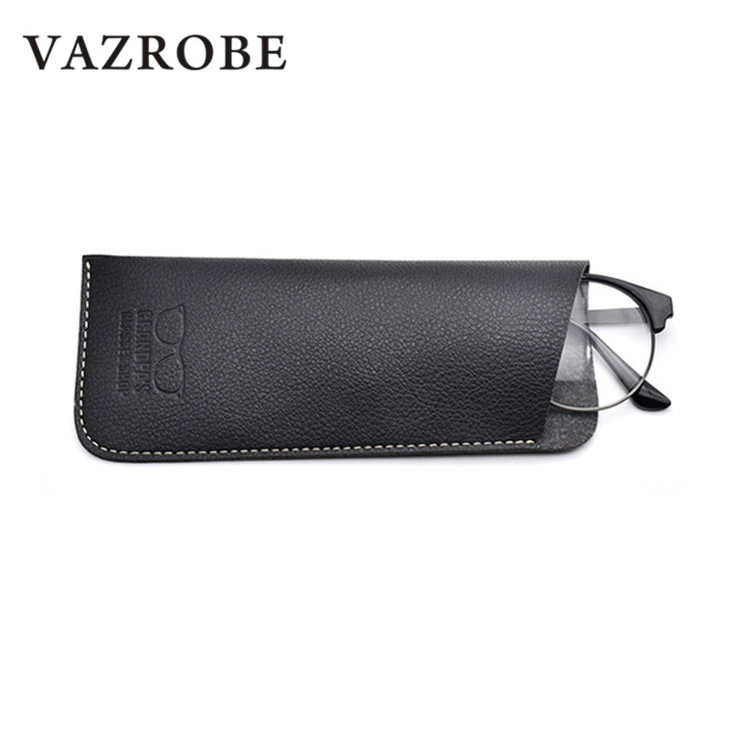4c4037c0397 Vazrobe PU Leather Reading Glasses Case Spectacles Boxes Storage Vintage  Retro High Quality Soft Box Sunglasses