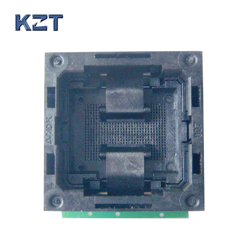 Flash Programmer Adapter LGA52 TO DIP48 IC Test Socket With Board Burn in Socket Open Top Structure LGA52 Programming Socket