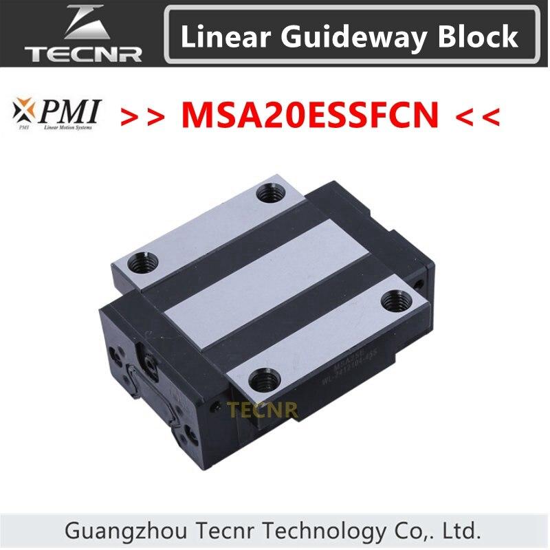 Taiwan PMI del binario di guida lineare scivolo blocco di trasporto MSA20E MSA20ESSFCN cursore per la macchina del laser di CNCTaiwan PMI del binario di guida lineare scivolo blocco di trasporto MSA20E MSA20ESSFCN cursore per la macchina del laser di CNC