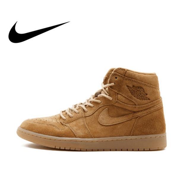 purchase cheap a7c87 1fadd Official Original Nike Air Jordan 1 Retro High OG AJ1 Men s Basketball  Shoes Professional Outdoor Sports Medium Cut 555088-710