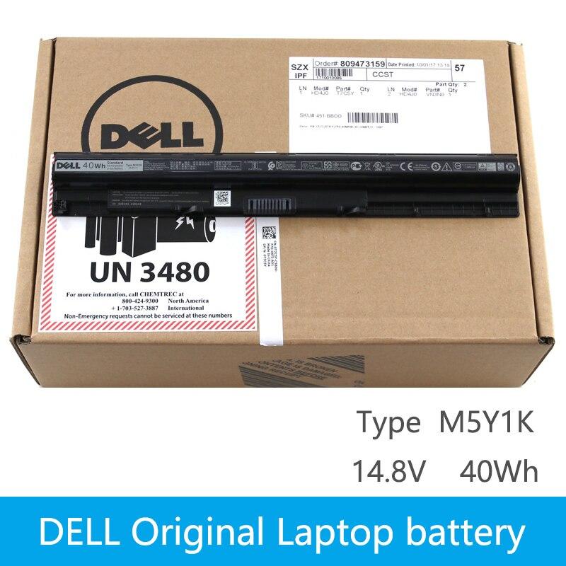 Original Laptop battery For DELL Vostro 3451 3458 3551 3558 V3458 V3451 N3558 N5558 WKRJ2 GXVJ3 HD4J0 K185W M5Y1K 14.8V 40WH 4cell 14 4v 2200mah laptop battery for dell inspiron 3451 3458 3551 3558 5455 5555 series k185w hd4j0 m5y1k wkrj2 gxvj3