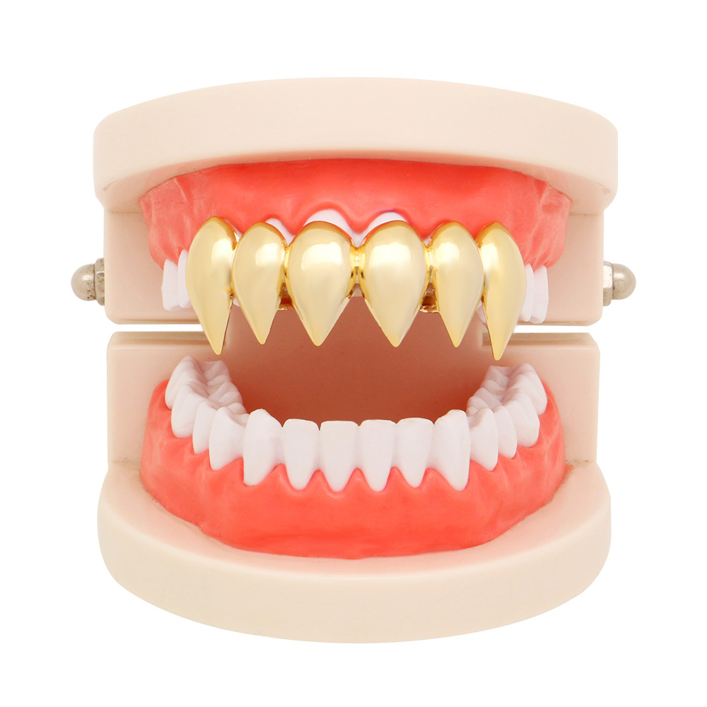 OMYFUN Custom Teeth Grillz Gold Silver Color Sharp Drop Dental ... 42291943d3