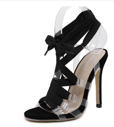 ФОТО 2017 most popular woman shoes stiletto heel high heels lace-up closure type  back strap type  beautiful woman summer sandals