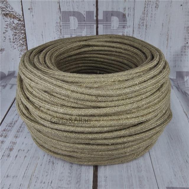 3x0,75 Vintage stoff Draht Textilkabel Geflochtenen Elektrischen ...