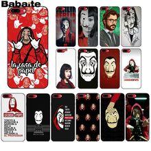 Babaite Spain TV La Casa de papel Soft Silicone black Phone Case for iPhone 8 7 6 6S Plus 5 5S SE XR X XS MAX Coque Shell babaite spain tv la casa de papel novelty fundas phone case cover for apple iphone 8 7 6 6s plus x xs max 5 5s se xr cases