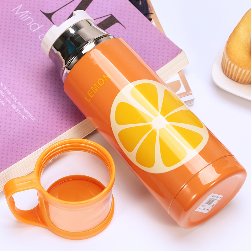 350ML fruit Thermo CupThermo Mug Vacuum Cup 304 18 8Stainless Steel Thermos Insulated Mug Thermal Bottle