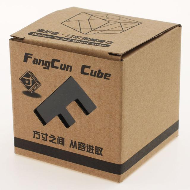 FangCun Fantasma Plástico Cubo Mágico Enigma Amarelo Venda Quente Childern Brinquedo Quebra-cabeças Educativos cubo magico Frete Grátis