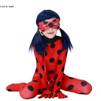 S L Women Girls Miraculous Ladybug Cosplays Halloween Insect Costumes Carnival Purim Christmas Stage Show Masquerade