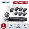 Annke 8ch 1080 p poe nvr ip poe cctv sistema al aire libre cámara HDMI P2P 2MP POE CCTV home video vigilancia de seguridad Kit