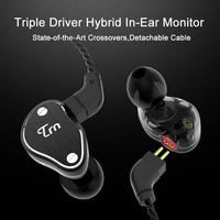 TRN V60 2DD+BA Hybrid In Ear Earphone Upgrade HIFI DJ Monitor Running Sport Earphone Headset With 2PIN Cable 0.75MM connector