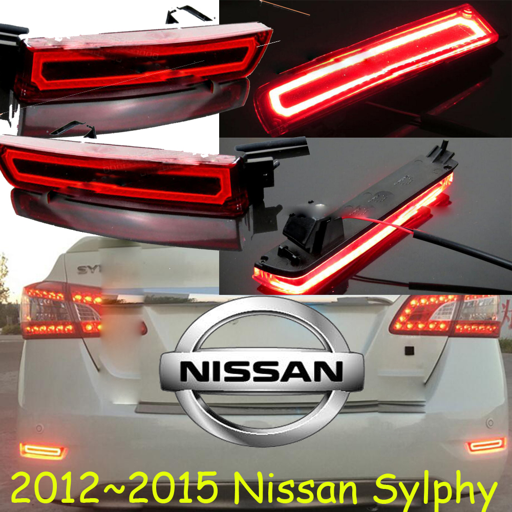 car-styling,Sylphy Breaking light,2012~2017,led,Free ship!2pcs,Sylphy rear light;car-covers,Sylphy tail light,Bluebird,Lannia car styling sylphy daytime light 2006 2011 chrome car detector led free ship 2pcs sylphy fog light car covers sylphy bluebird