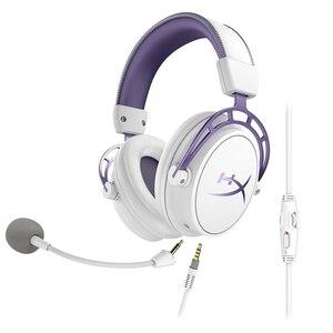 Image 2 - קינגסטון HyperX ענן אלפא סגול מהדורה מוגבלת E ספורט אוזניות עם מיקרופון Headset משחקים עבור מחשב PS4 Xbox נייד