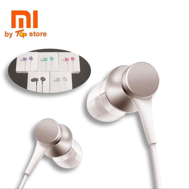 XiaoMI Earphone Original Mi In-Ear Headphones Basic with Mic Wire Control for Mobile Phone 3.5mm Headphones fone de ouvido gorros de baño con flores