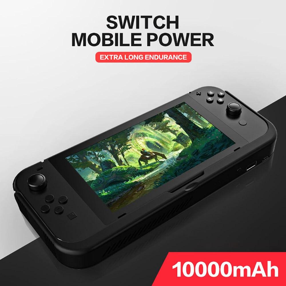 10000 mAh chargeur de batterie étui pour support de commutateur de Nintendo support de support en cuir NS pour Nintendo Switch housse de batterie portative cadeaux - 6