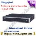 DS-7616NI-I2/16 P Suporta até 12MP câmera IP 4 K H.265 Inglês NVR 16CH PoE Embutido Plug & jogar 4 K rede NVR gravador De Vídeo
