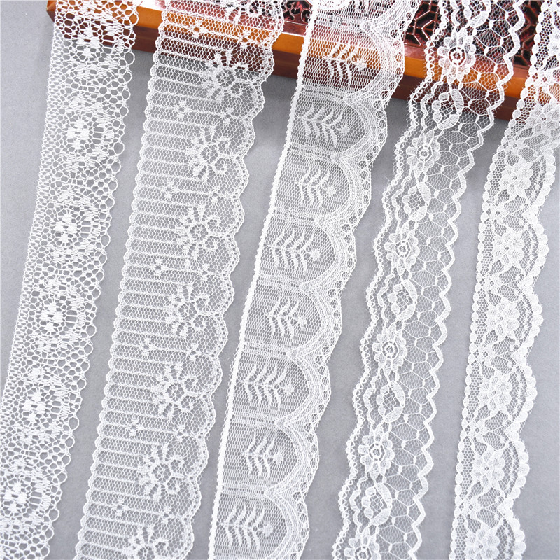 10 Yards Other 38 Kinds Of Color White Lace Ribbon Wide French African Lace Fabric DIY Crafts/wedding/Lace Ribbon Gift Wrapping