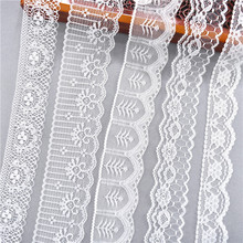 10 Yards other 38 kinds of Color White Lace Ribbon Wide french african lace fabric DIY crafts/wedding/Lace ribbon gift wrapping off white color gold purl twill ribbon 1 1 2 38mm handmade wedding diy crafts tape