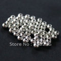 925 Solid Sterling Silver finding,100 pcs/lot of 2 mm round  sterling silver beads/Silver Jewelry finding